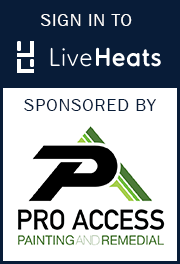 Sign in to LiveHeats, brought to you by Pro Acess Painting and Remedial